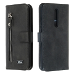 For Xiaomi Redmi K20 / Mi 9T Zipper Horizontal Flip Leather Case with Wallet & Holder & Card Slots(Black)
