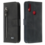 For Xiaomi Redmi Note 7 Zipper Horizontal Flip Leather Case with Wallet & Holder & Card Slots(Black)