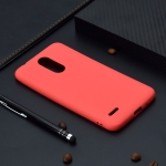 For LG K8 (2018) Candy Color TPU Case(Red)