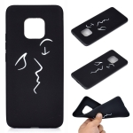 For Huawei Mate 20 Pro Shockproof Stick Figure Pattern Soft TPU Protective Case(Kiss)