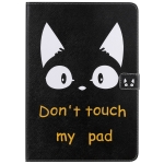 For iPad 10.2 / Pro 10.5 / Air  2019 3D Colored Drawing Horizontal Flip Leather Case with Holder & Card Slots & Wallet & Sleep / Wake-up Function(Cat Ears)