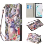 For Galaxy Note10 / Note10 5G Colored Pattern Horizontal Flip PU Leather Case, with Holder & Card Slots & Wallet(Elk)