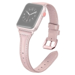 For Apple Watch Series 5 & 4 40mm / 3 & 2 & 1 38mm T-shaped Genuine Leather Watchband(Pink)
