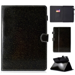 For Huawei MediaPad T3 10.0 Varnish Glitter Powder Horizontal Flip Leather Case with Holder & Card Slot(Black)