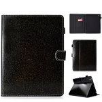 For iPad 2 / 3 / 4 Varnish Glitter Powder Horizontal Flip Leather Case with Holder & Card Slot(Black)