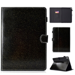 For iPad Pro 9.7 Varnish Glitter Powder Horizontal Flip Leather Case with Holder & Card Slot(Black)