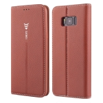 For Galaxy S8 GEBEI PU+TPU Horizontal Flip Protective Case with Holder & Card Slots(Brown)