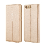 For Huawei P10 GEBEI PU+TPU Horizontal Flip Protective Case with Holder & Card Slots(Gold)