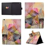 For iPad 4 / 5 / 6 TPU Horizontal Flip Leather Case with Holder & Card Slot & Sleep / Wake-up Function(Flamingo)