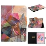 For iPad 10.2 / 10.5 TPU Horizontal Flip Leather Case with Holder & Card Slot & Sleep / Wake-up Function(Flamingo)