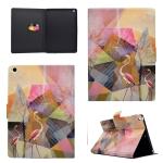 For iPad 9.7 (2017) TPU Horizontal Flip Leather Case with Holder & Card Slot & Sleep / Wake-up Function(Flamingo)
