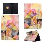For iPad Mini 1 / 2 / 3 / 4 / 5 TPU Horizontal Flip Leather Case with Holder & Card Slot & Sleep / Wake-up Function(Flamingo)