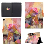 For iPad Pro 10.5 inch TPU Horizontal Flip Leather Case with Holder & Card Slot & Sleep / Wake-up Function(Flamingo)