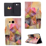 For Galaxy Tab A 7.0 (2016) T280 TPU Horizontal Flip Leather Case with Holder & Card Slot & Sleep / Wake-up Function(Flamingo)