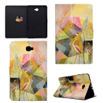 For Galaxy Tab A 10.1 (2016) T580 TPU Horizontal Flip Leather Case with Holder & Card Slot & Sleep / Wake-up Function(Flamingo)