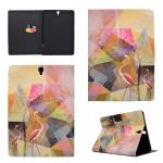For Galaxy Tab S3 9.7 T820 TPU Horizontal Flip Leather Case with Holder & Card Slot & Sleep / Wake-up Function(Flamingo)