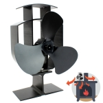 3-Blade Aluminum Heat Powered Fireplace Stove Fan
