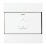 86 Type PC Wall Doorbell Single Control Switch, EU Plug