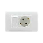 118 Type PC Power Socket with Switch, EU Plug