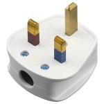 Three-pin 13A Power Wiring Plug With Fuse Tube, UK Plug