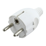 Side Wiring Tripolar Power Plug, EU Plug
