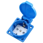 Outdoor IP44 Waterproof Socket with Cover, EU Plug
