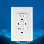PC Double-connection Power Socket Switch, US Plug, Square White UL 15A Double Plug