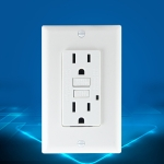 PC Double-connection Power Socket Switch with USB, US Plug, Square White UL 20A Leakage Protection Socket