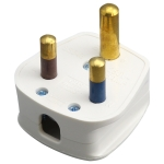 Three Pin Cylinder 15A Power Plug, UK Plug