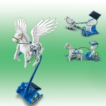 3 in 1 Solar Energy Pegasus Chariot Shape Children DIY Assembled Educational Toys