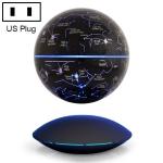 6 inch Rotation Illuminating English Magnetic Levitation Globe Office Crafts Ornaments, US Plug(Black)