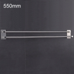 304 Stainless Steel Towel Holder Folding Double Pole Hanging Rack Organizer Hook Bathroom Bracket, Size: 550mm