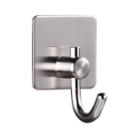 MYD-1037 304 Stainless Steel Sticky Hook Kitchen Bathroom Multi-functional Hole Free Wall Mount Holder