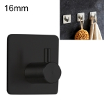 Stainless Steel Cylinder Hanger Bathroom Non-perforated Storage Clothes Hook, Size:16mm (Black)