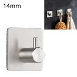 Stainless Steel Cylinder Hanger Bathroom Non-perforated Storage Clothes Hook, Size:14mm (Silver)