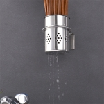 304 Stainless Steel Chopsticks Barrel Multi-function Kitchen Punching-free Wall-mounted Holder Storage Rack
