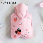 Cartoon Warm Safe Reliable PVC Household Water Injection Hot Water Bag, Size:S, 17x11cm