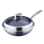LX-3CG-30T2 Compound Steel Non Stick Wok Cooking Pot