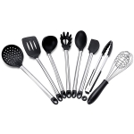 kn430 8 in 1 Silicone + Stainless Steel Kitchen Tools Set