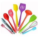 kn607 10 in 1 Colorful Silicone Kitchen Tools Set