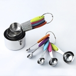 kn650 10 in 1 Colorful Stainless Steel Measuring Spoon Cake Mold Baking Tool Set