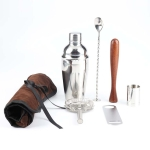 7 in 1 Stainless Steel Wine Cocktail Shaker Tools Set with Cloth Bag, Capacity: 750ml