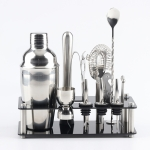 18 in 1 Cocktail Shaker Tools Setwith Acrylic Mount, , Capacity: 750ml