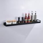 60cm Kitchen Multi-function Wall Hanging Holder Seasoning Storage Rack(Black)