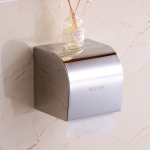 Q7 304 Stainless Steel Bathroom Wall-mounted Waterproof Bright Light Paper Towel Roll Holder