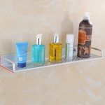 40cm Single Layer Multi-function Kitchen Bathroom Wall-mounted Aluminum Alloy Holder Storage Rack