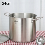 LXBF LX-ZT24-03 Stainless Steel Stock Pot Cooking Pot, Specification: 24cm
