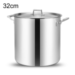 LXBF LX-SG32 24L Stainless Steel Stock Pot Steamer Cooking Pot, Specification: 32cm