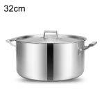 LXBF LX-SD32 13L Stainless Steel Stock Pot Steamer Cooking Pot, Specification: 32cm