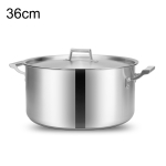 LXBF LX-SD36 18L Stainless Steel Stock Pot Steamer Cooking Pot, Specification: 36cm